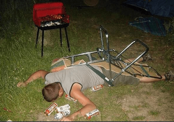 funny camping and hiking photos