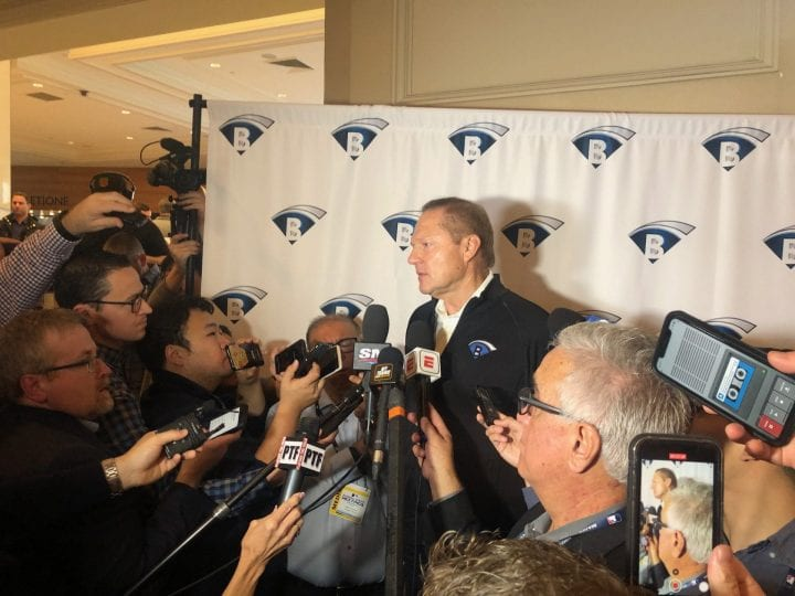 Scott Boras holds media session at baseball's Winter Meetings