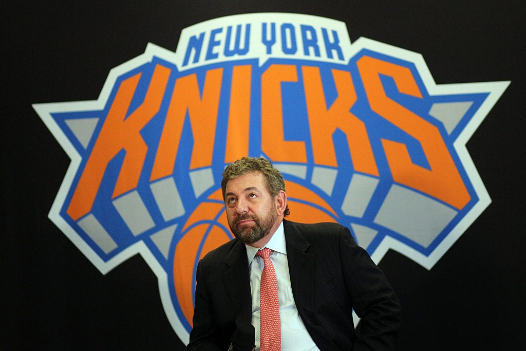 New York Knicks owner James Dolan at the Phil Jackson Press Conference