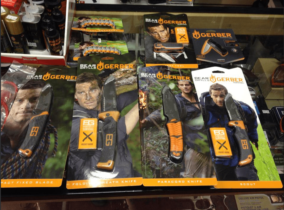 Bear Grylls survival knives from Gerber