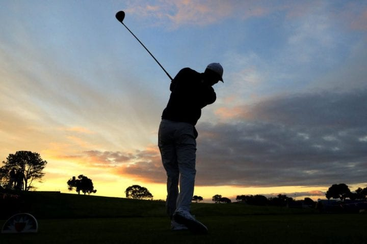 Tiger Woods plays a shot during the Pro-Am for the 2020 Farmers Insurance Open