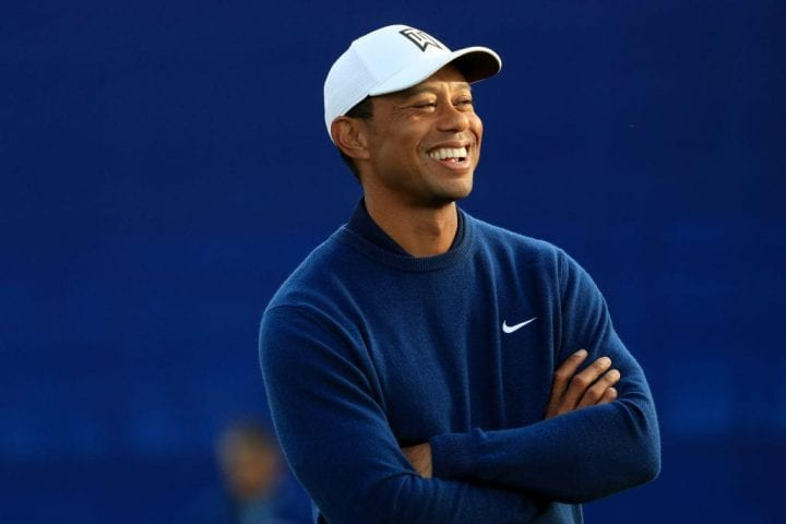 Tiger Woods looks on during the Pro-Am for the 2020 Farmers Insurance Open