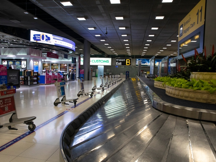 A luggage claim area is seen vacant of any passengers at Suvarnabhumi International airport on March 04, 2020 in Bangkok, Thailand. With limited information about cases in some South East Asian countries health experts are worried that the infection could be spreading undetected throughout some parts of the region. The global mortality rate for Covid-19, is 3.4 percent. The Coronavirus has infected roughly 94,000 with 3,221 deaths.