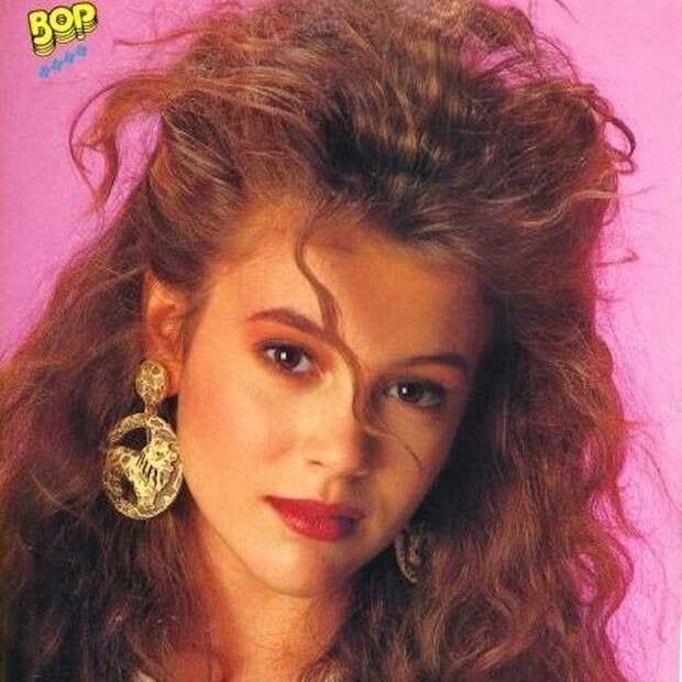 Alyssa Milano, big hair, 1990s, poofy hair