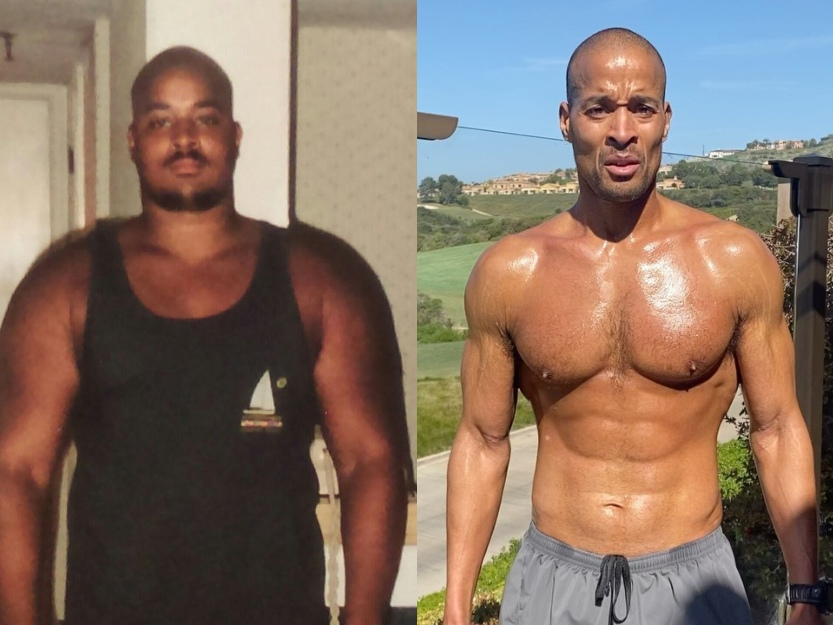 David Goggins overweight and in shape after training